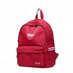 Czerwony niesamowity plecak nylonowy z kieszeniami na lato