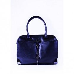 Czarna duża torba ze skóry ekologicznej Liu Jo