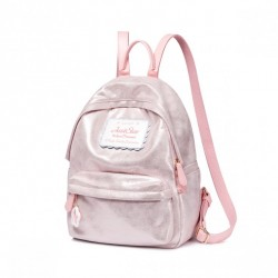 Duży błyszczący plecak, różowy