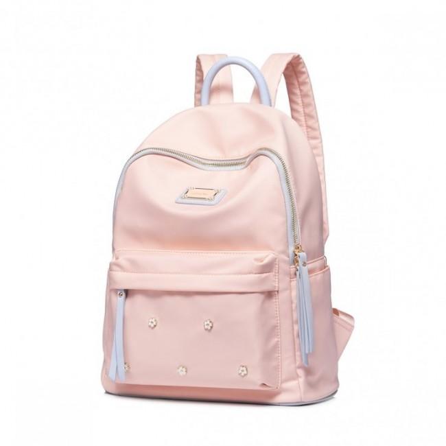Różowy plecak nylon