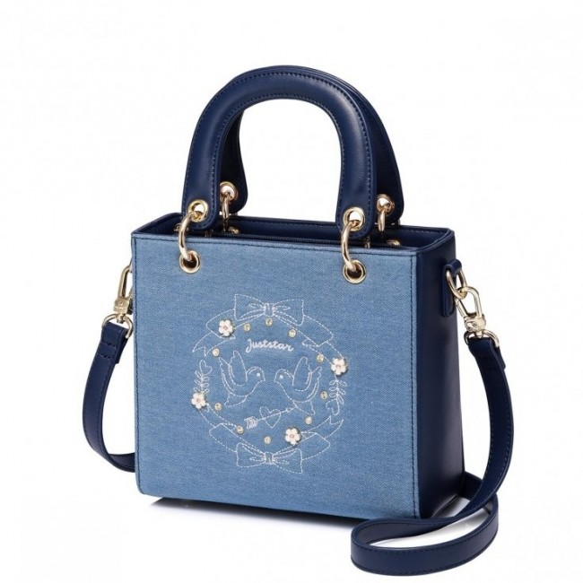 Jeansowy kuferek niebieski