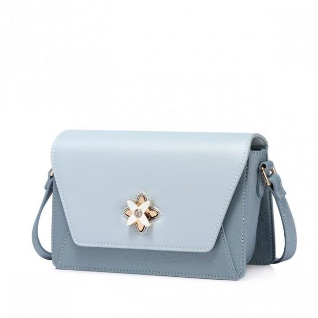 Elegancka listonoszka niebieska