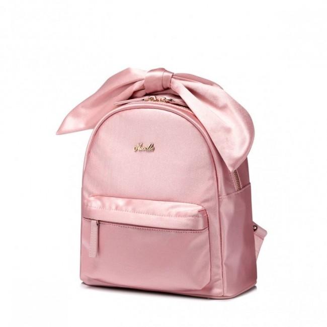 Plecak różowy z kokardą