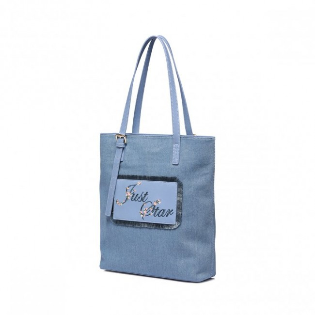 Niebieska duża torebka