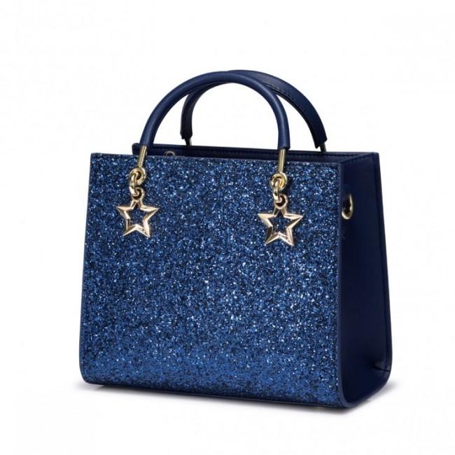 Kuferek z gwiazdą niebieski