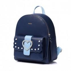 Plecak granatowy z sercem