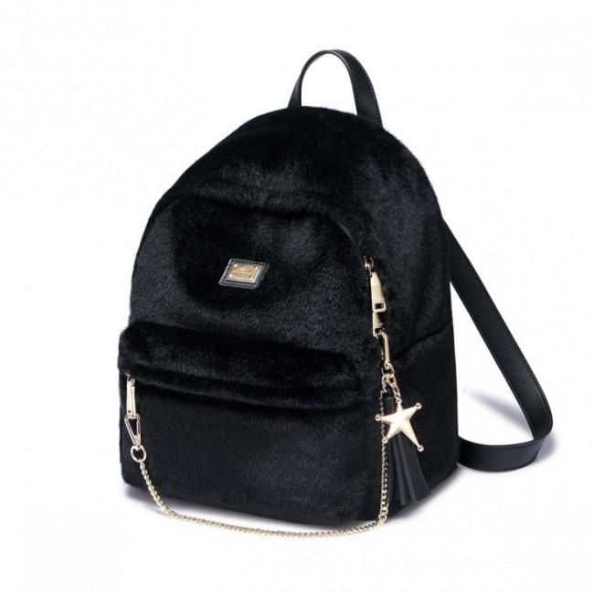 Pluszowy plecak czarny