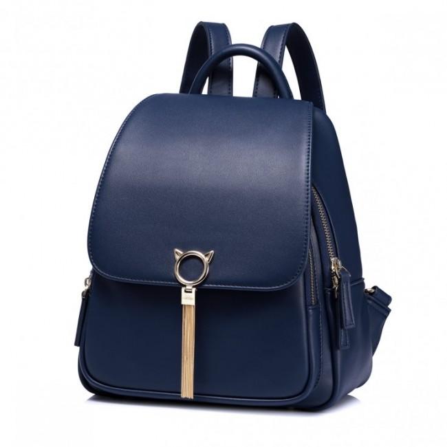 Granatowy stylowy plecak