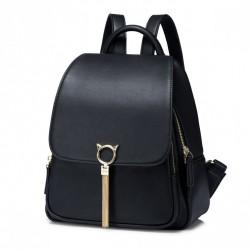 Czarny stylowy plecak