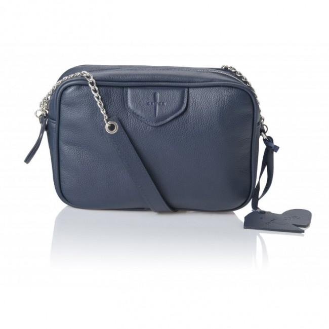Granatowa torebka na ramię