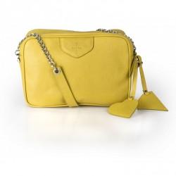 Żółta torebka na ramię