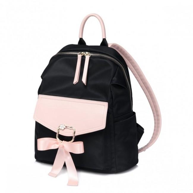 Dwukolorowy plecak z kokardą