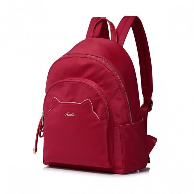 Modny plecak podróżny czerwony