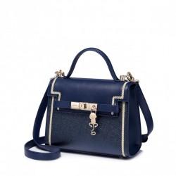 Elegancka dziewczęca torebka, niebieska