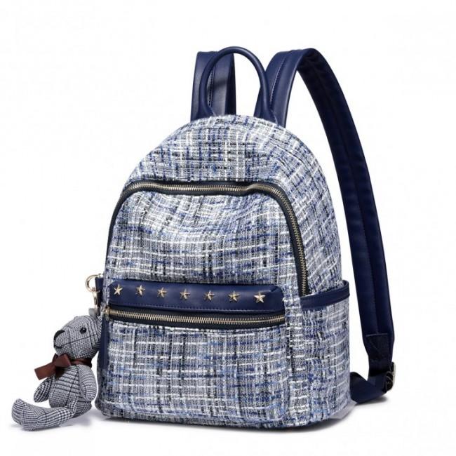 Zimowy, plecak kolor niebieski