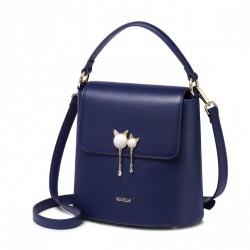 Nowa elegancka torba damska na ramię, niebieska