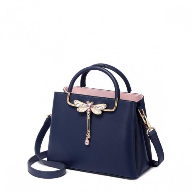 Niebieska torebka, do ręki i na ramię