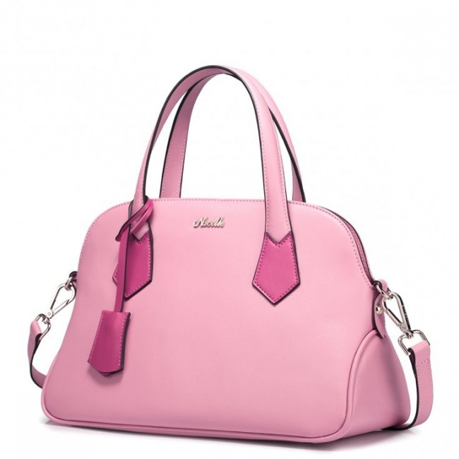 NUCELLE Modna damska torebka do ręki Różowa