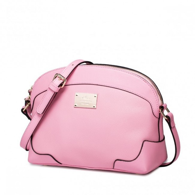 Damska torebka z wysokiej jakości skóry Różowa