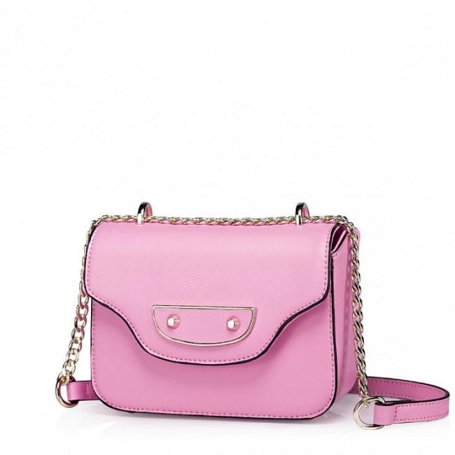 Mała torebka na ramię Różowa