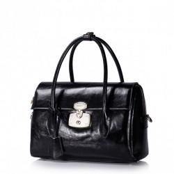 Luksusowa torebka damska z połyskiem Czarna