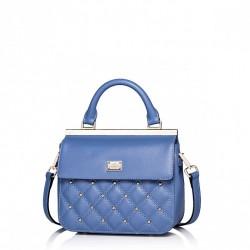 Mała i elegancka damska torebka Niebieska