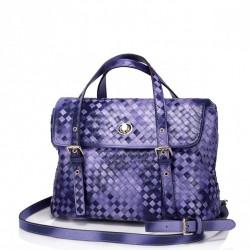 Wyszywana damska torebka do ręki Purpurowa