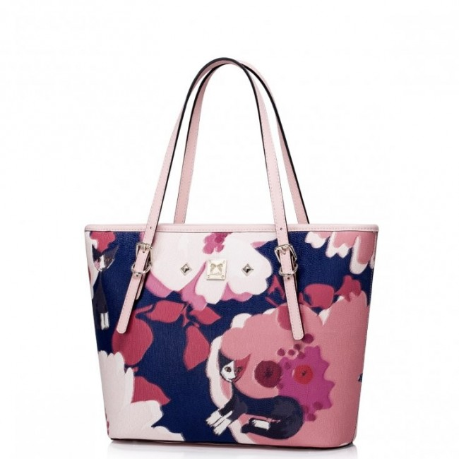 JUST STAR Modna damska torebka do ręki Różowa