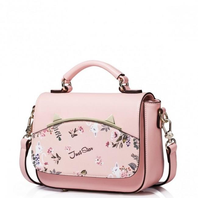 JUST STAR Dziewczęca torebka do ręki z wiosennej kolekcji Różowa