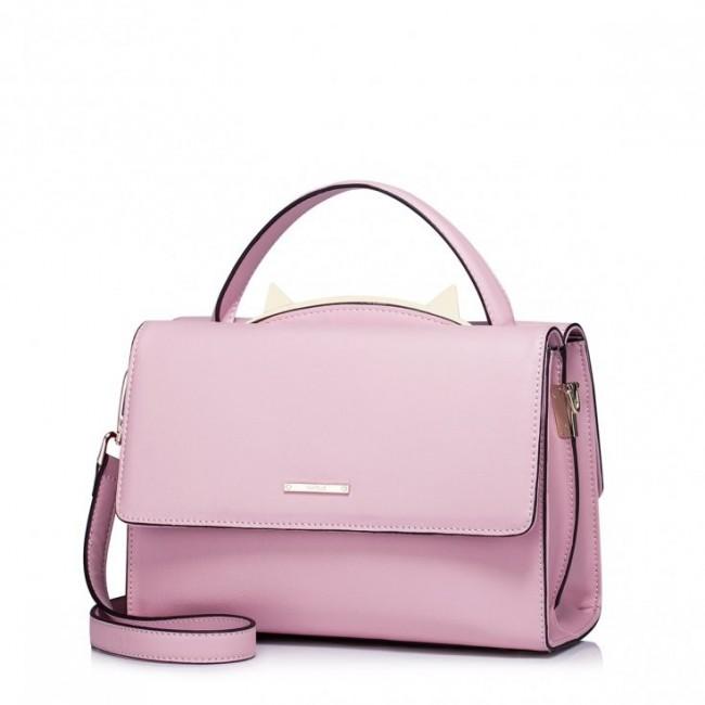 Niewielka i lekka damska torebka Różowa