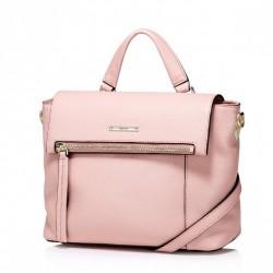Prosta i modna damska torebka na ramię Różowa