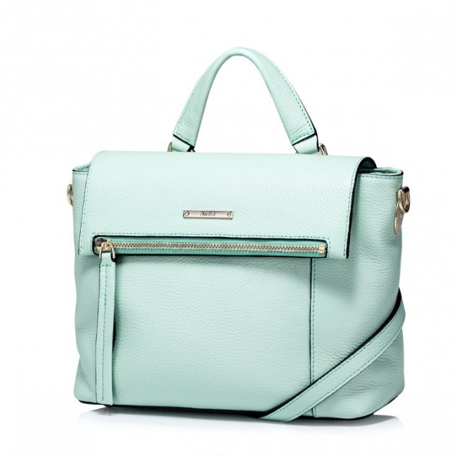 Prosta i modna damska torebka na ramię Zielona