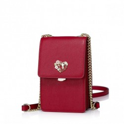 Niewielka damska torebka na telefon Czerwona