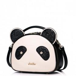 Dziewczęca torebka na ramię w kształcie pandy Ecru