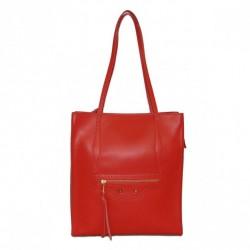 Borse in Pelle Shopper Berenice czerwony