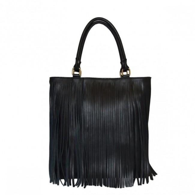 Borsa in Pelle Shopper Sofia czarna