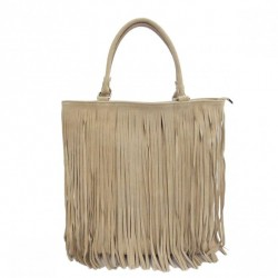 Borsa in Pelle Shopper Laura Kawowa