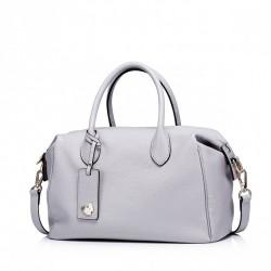 Pojemna damska torebka w stylu bostońskim Szara