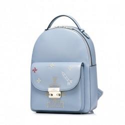 Dziewczęcy plecak z motywem kosmosu niebieski