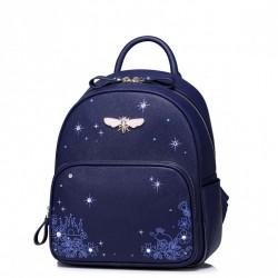 JUST STAR Plecak z ważką Niebieski