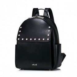 Damski plecak z dekoracjami Czarny