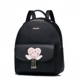 Delikatnie zdobiony plecak Czarny