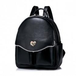 NUCELLE Perłowy plecak Czarny