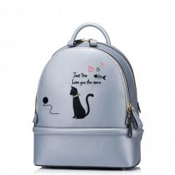 JUST STAR Klasyczny plecak z kocim motywem Niebieski