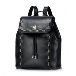 NUCELLE Plecak z przeplatanym łańcuszkiem Czarny
