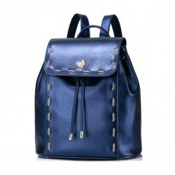 NUCELLE Plecak z przeplatanym łańcuszkiem Niebieski