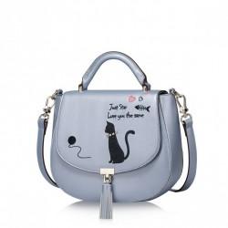 JUST STAR Listonoszka Biały kot Niebieska