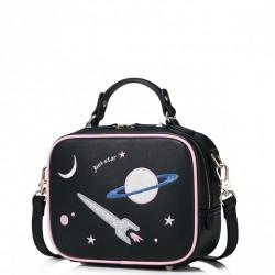 JUST STAR Kosmiczna torebka Czarna