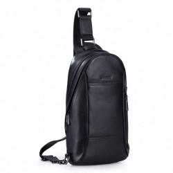 Modny mini plecaczek przez ramię Czarny