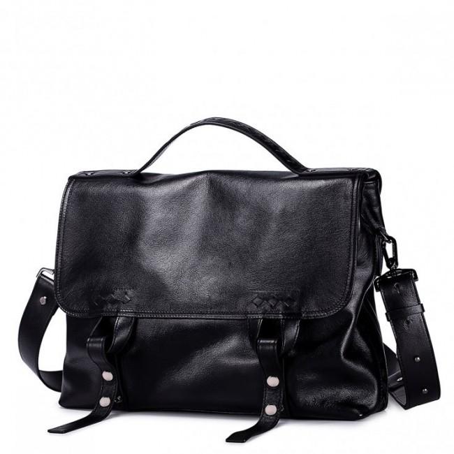 Luksusowa męsak torba na ramię Czarna